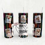 Personalized Photo Tumbler - Photo Collage Tumbler - Custom Travel Mug - Gift For Mom And Grandma 141