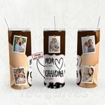 Personalized Photo Tumbler - Photo Collage Tumbler - Custom Travel Mug - Gift For Mom And Grandma 142