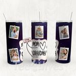 Personalized Photo Tumbler - Photo Collage Tumbler - Custom Travel Mug - Gift For Mom And Grandma 143
