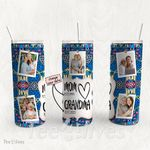 Personalized Photo Tumbler - Photo Collage Tumbler - Custom Travel Mug - Gift For Mom And Grandma 144