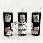 Personalized Photo Tumbler - Photo Collage Tumbler - Custom Travel Mug - Gift For Mom And Grandma 145