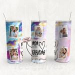 Personalized Photo Tumbler - Photo Collage Tumbler - Custom Travel Mug - Gift For Mom And Grandma 147