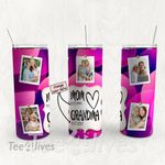 Personalized Photo Tumbler - Photo Collage Tumbler - Custom Travel Mug - Gift For Mom And Grandma 148