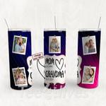 Personalized Photo Tumbler - Photo Collage Tumbler - Custom Travel Mug - Gift For Mom And Grandma 155