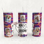 Personalized Photo Tumbler - Photo Collage Tumbler - Custom Travel Mug - Gift For Mom And Grandma 156