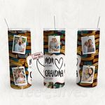 Personalized Photo Tumbler - Photo Collage Tumbler - Custom Travel Mug - Gift For Mom And Grandma 159