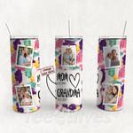 Personalized Photo Tumbler - Photo Collage Tumbler - Custom Travel Mug - Gift For Mom And Grandma 162