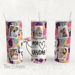 Personalized Photo Tumbler - Photo Collage Tumbler - Custom Travel Mug - Gift For Mom And Grandma 164