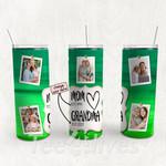 Personalized Photo Tumbler - Photo Collage Tumbler - Custom Travel Mug - Gift For Mom And Grandma 165