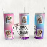 Personalized Photo Tumbler - Photo Collage Tumbler - Custom Travel Mug - Gift For Mom And Grandma 167