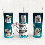 Personalized Photo Tumbler - Photo Collage Tumbler - Custom Travel Mug - Gift For Mom And Grandma 169