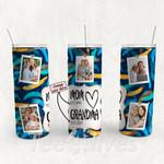 Personalized Photo Tumbler - Photo Collage Tumbler - Custom Travel Mug - Gift For Mom And Grandma 171