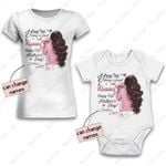 Personalized Combo Women's T-Shirt + Onesie Happy First Mother's Day 4 - Gift For Mother Day - Premium Women's T-shirt + Onesie
