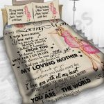 Personalized Mother's Day Gift Custom Bedding Set Letter From Daughter To My Loving Mom