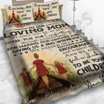 Personalized Mother's Day Gift Custom Bedding Set Letter From Daughters To Our Loving Mom