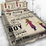 Personalized Mother's Day Gift Custom Bedding Set Letter From Son To My Loving Mom