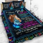 Personalized Mother's Day Gift Custom Bedding Set Butterflies From Daughter To My Loving Mom