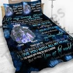 Personalized Mother's Day Gift Custom Bedding Set From Daughter To My Loving Mom