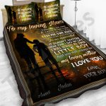 Personalized Mother's Day Gift Custom Bedding Set From Son To My Loving Mom