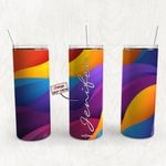 Personalized Name Tumbler - Name Collage Tumbler - Custom Travel Mug 109