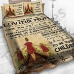 Personalized Mother's Day Gift Custom Bedding Set From Daughters To Our Loving Mom