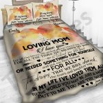 Personalized Mother's Day Gift Custom Bedding Set Letter To My Loving Mom From Daughter