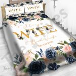 Personalized Gift For Wife Custom Bedding Set I Love You Wife