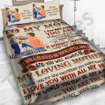 Personalized Mother's Day Gift Custom Bedding Set From Son To My Mom