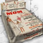 Personalized Mother's Day Gift Custom Bedding Set Balloons Letter From Daughter To My Mom
