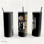 Personalized Father's Day Gift Custom Tumbler Dad And Son Disabled American Veterans - Custom Travel Mug