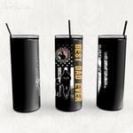 Personalized Father's Day Gift Custom Tumbler Dad And Son Proud Military Veteran - Custom Travel Mug
