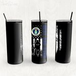 Personalized Father's Day Gift Custom Tumbler Dad And Son United States Air Force Veteran - Custom Travel Mug