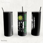Personalized Father's Day Gift Custom Tumbler Dad And Son United States Army Disabled Veteran - Custom Travel Mug