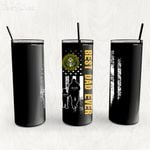 Personalized Father's Day Gift Custom Tumbler Dad And Son United States Army Veteran - Custom Travel Mug