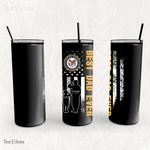 Personalized Father's Day Gift Custom Tumbler Dad And Son United State Veteran 1 - Custom Travel Mug