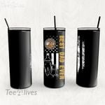 Personalized Father's Day Gift Custom Tumbler Best Dad Ever With Dog Disabled American Veterans - Custom Travel Mug