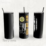 Personalized Father's Day Gift Custom Tumbler Best Dad Ever With Dog Proud To Have Served Veteran - Custom Travel Mug