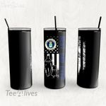 Personalized Father's Day Gift Custom Tumbler Best Dad Ever With Dog United States Air Force Veteran - Custom Travel Mug