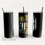 Personalized Father's Day Gift Custom Tumbler Best Dad Ever With Dog United States Army Veteran - Custom Travel Mug