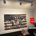 Trump 2020 Law And Order 4' x 6' Flag + Trump Camo Hat Combo