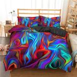 Abstract Hippie Tie Dye Duvet Cover Bedding Set