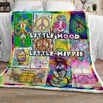 A Little Hood A Little Hippie Loving Live Hippes Fleece Blanket Great Customized Gifts For Birthday Christmas Thanksgiving Perfect Gifts For Hippie Lover