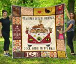 Abyssinian Cats And Hippie Van Quilt Blanket Great Customized Blanket Gifts For Birthday Christmas Thanksgiving Anniversary