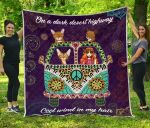Abyssinian Hippie Van And Hippie Girl Quilt Blanket Great Customized Blanket Gifts For Birthday Christmas Thanksgiving Anniversary