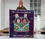 Akita Hippie Girl And Hippie Van Cool Wind In My Hair Quilt Blanket Great Customized Blanket Gifts For Birthday Christmas Thanksgiving