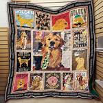 Golden Retriever Don't Stop Retrieving Quilt Blanket Great Customized Blanket For Birthday Christmas Thanksgiving Anniversary