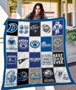 Drake Bulldogs Football Team Quilt Blanket Great Customized Blanket Gifts For Birthday Christmas Thanksgiving