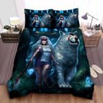 Princess Mononoke & Moro-No-Kimi 3d Animation Art Bed Sheets Spread Comforter Duvet Cover Bedding Sets