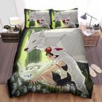 Princess Mononoke & The Kodama Of The Forest Bed Sheets Spread Comforter Duvet Cover Bedding Sets
