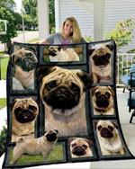 Lovely Pug Dog Quilt Blanket Great Customized Blanket For Birthday Christmas Thanksgiving Anniversary